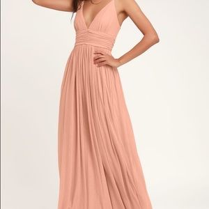 Queen of the evening Blush Pink Maxi Dress